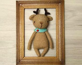 Deer amigurumi, Crochet Deer, Amigurumi Deer plush, Deer crochet,  Stuffed Deer toy, Christmas deer