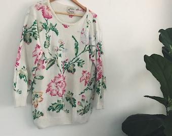 80s Floral Knit