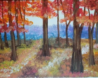 "Fall Trees 12"" by 16"""