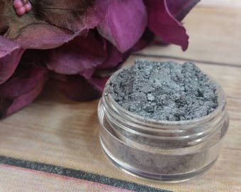 Slate Mineral Eyeshadow - Natural Eyeshadow - Mineral Makeup - Silver Eyeshadow - Gray Eyeshadow - Organic Makeup - Natural Cosmetics