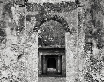 Black and White Photograph Beaufort Historic Church - Chapel of the Ease