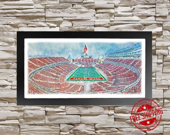 Ohio State Buckeyes Football Art Print Buckeyes Decor
