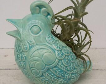Bird Planter Vintage Design Contemporary Aqua Planter Aqua Home Decor Teacher Gift Holiday Gift Housewarming Bird Home Decor