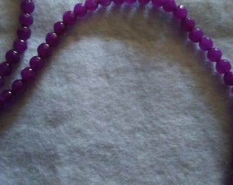Set of 80 beads synthetic Purple 2mm