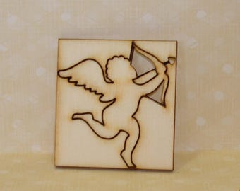 Cupid 309 cut-outs in wood for your Valentine's Day card