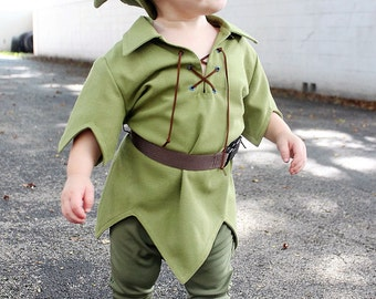 """Adorable Kids SZ 5-14 Peter Pan Costume, """"The New Version"""" for Kids, available in sz 5 to 14"""