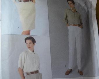 Vogue 2472 Calvin Klein Misses Skirt Shorts an Pants Sewing Pattern - UNCUT - Size 6 8 10