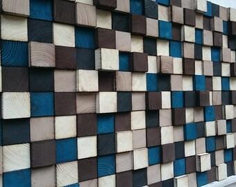 Reclaimed Wood Wall Art, Large Wall Art, Wood Wall Sculpture