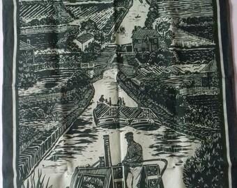 Quiet waters linen tea towel.