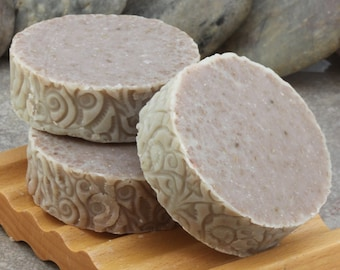Chamomile Herbal Handcrafted Cold Process Round Soap Bar