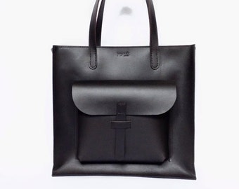 Leather bag, Leather tote bag, Black Leather Tote, leather tote bags for women, large leather tote, leather shoulder bag, shoulder tote bags