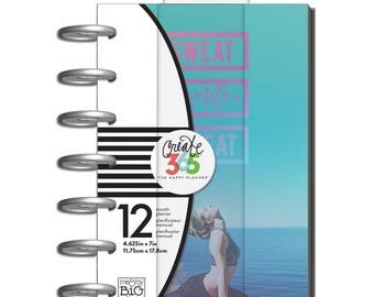 "SALE Memorial Day Sweat Smile Repeat Happy Planner 12-Month Undated Mini Planner 5.125""X7.5"""
