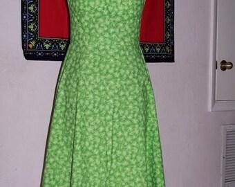 sewing pattern Green Halter Dress for women