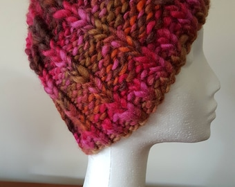 Ladies Hand Knitted Chunky Knit Beanie