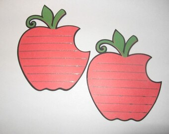 Set of 4 Apple Journaling Tags