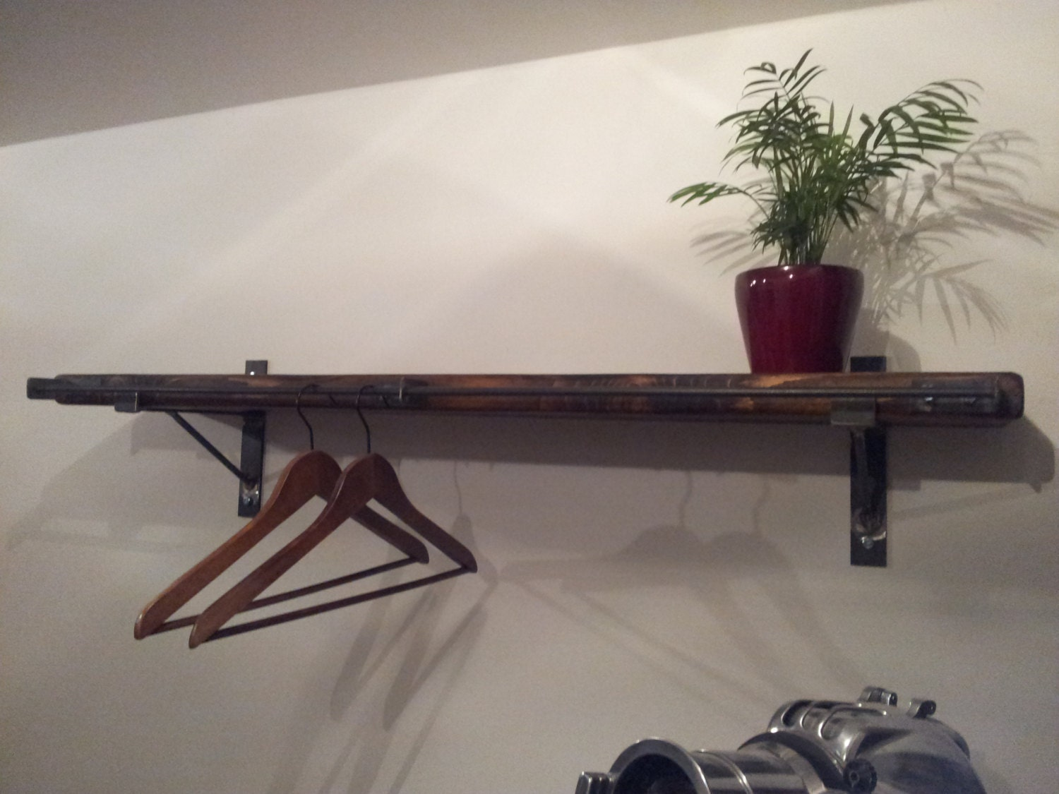 l lumber reclaimed barnwood wide brackets hardware mantel shelf inch with heavy black duty bracket steel brace