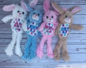 Personalized Easter bunny plush, easter basket, easter, stuffed animal