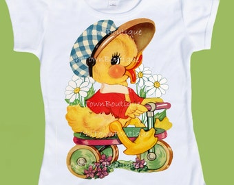 Baby Duck,Easter shirt, graphic tees, Duckling T-Shirt, Bike Chick, Chick on Trike, infants, toddlers shirts by ChiTownBoutique