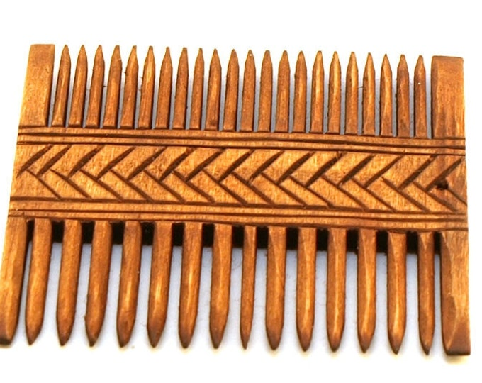 Viking Wooden Double Comb with circurlar pattern - Gross Raden (Germany), Early Middle Ages