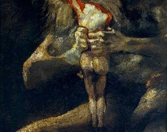 Saturn Devouring His Son - (Artist: Francisco Goya c.1819) - Masterpiece Classic (Art Print - Multiple Sizes Available)