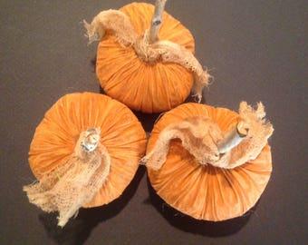 3 Primitive pumpkins Fall decoration Primitive fall decoration Primitive fall bowl fillers