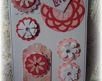Layered Cardstock Embellishment,Journal,Scrapbook ,Handmade Card