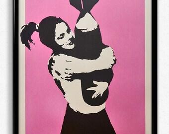 Banksy - Bomb Love Street Art Photo / Poster / Print  A4 & A3
