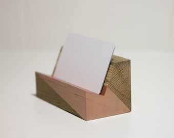 White Oak Business Card Holder - Limited Supply
