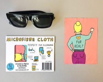 Microfibre Cloth - Fur Real | Glasses Cleaning Cloth | Eye Glasses Cleaning Cloth | Glasses Cleaner