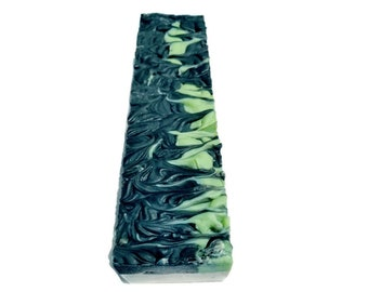 SOAP 3.5 lb Charcoal Mint Soap Loaf, Wholesale Soap, Vegan Soap, Cold Processed Soap, Natural Soap, Christmas Gift, FREE SHIPPING