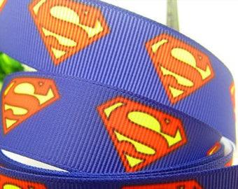 Superman Grosgrain Ribbon