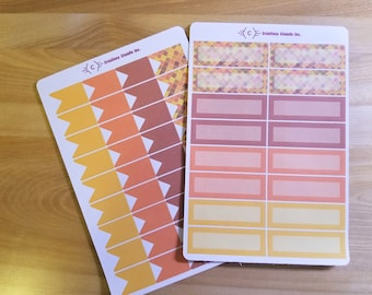 Stickers for Planner - pattern Plaid stickers Planner