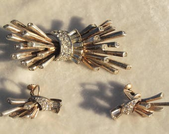 Marcel Boucher Atomic Brooch And Earring Set in Sterling