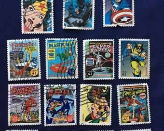 15 USA Comics Postage Stamps (KC029)