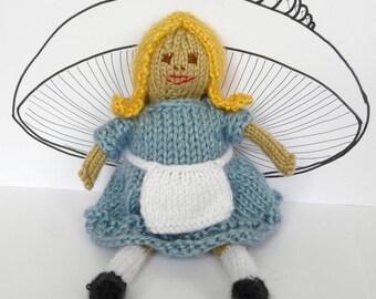 Alice in Wonderland Doll Knitting Pattern