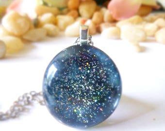 Black galaxy necklace