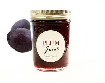 Gourmet Italian Plum Jam // All Natural // New Hampshire Home Grown // 7 oz
