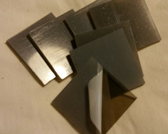 25, 3 Inch Plastic Square Blanks, Transparent