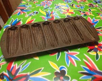 Vintage cast iron cornbread muffin pan