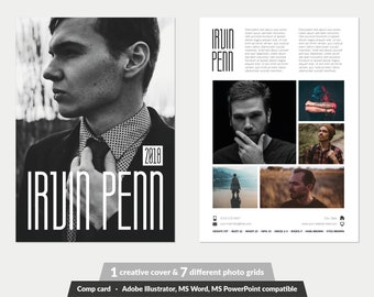 Modeling Comp Card Fashion Model comp card Template 7