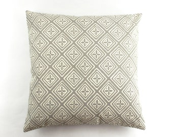 Quadrille China Seas Fiorentina Custom Pillows- (shown in Pewter on Tint - Comes in many Colors)