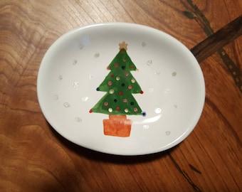 Christmas tree soap dish