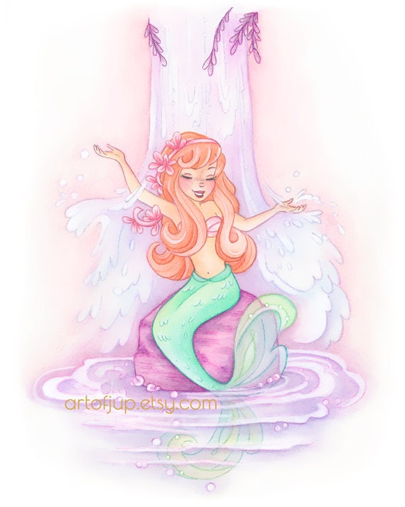 Mermaid Lagoon Art Print Neverland Peter Pan Wall