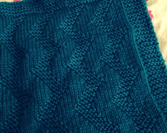 Zig Zag Baby Blanket Knitting Pattern, PDF, Instant Download, Pram, Throw