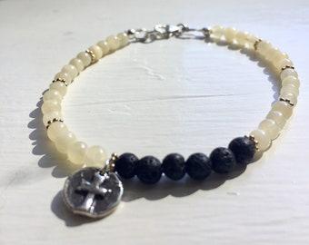 Yellow Jade Diffuser Bracelet
