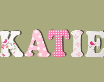 Wooden Signs, Wall Letters For Nursery, Wall Decor, Wooden Letters, Painted  Letters
