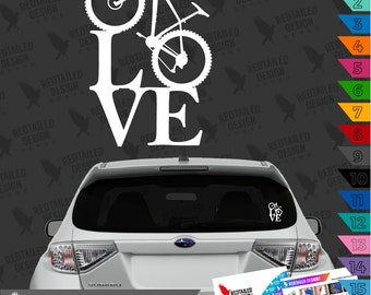 Mountain Bike Love Decal Car Sticker - MTB Love - Mountain Bike Decal
