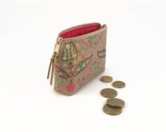 Boho coin purse, Boho chic, Coin zipper purse, Coworker gift, Christmas gift, Bohemian coin purse, Coin pouch, Small gift, Xmas gif, Paisley