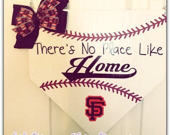 SF Giants themed home plate decor