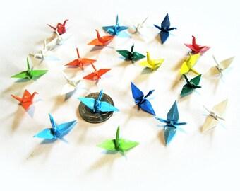 Origami Crane Confetti Party Wedding Choose Sizes and Colors 12 pieces - 1 dozen